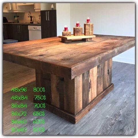 Table et lot salle manger cuisine mobilier de salle for Table exterieur montreal