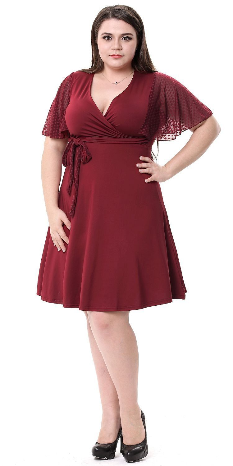 Seriously This Dress Is More Comfy Than My Pjs But Still Super Cute The Wrap Top And Empire Waist Is Flattering Withou Dresses Crochet Midi Dress Lace Sleeves