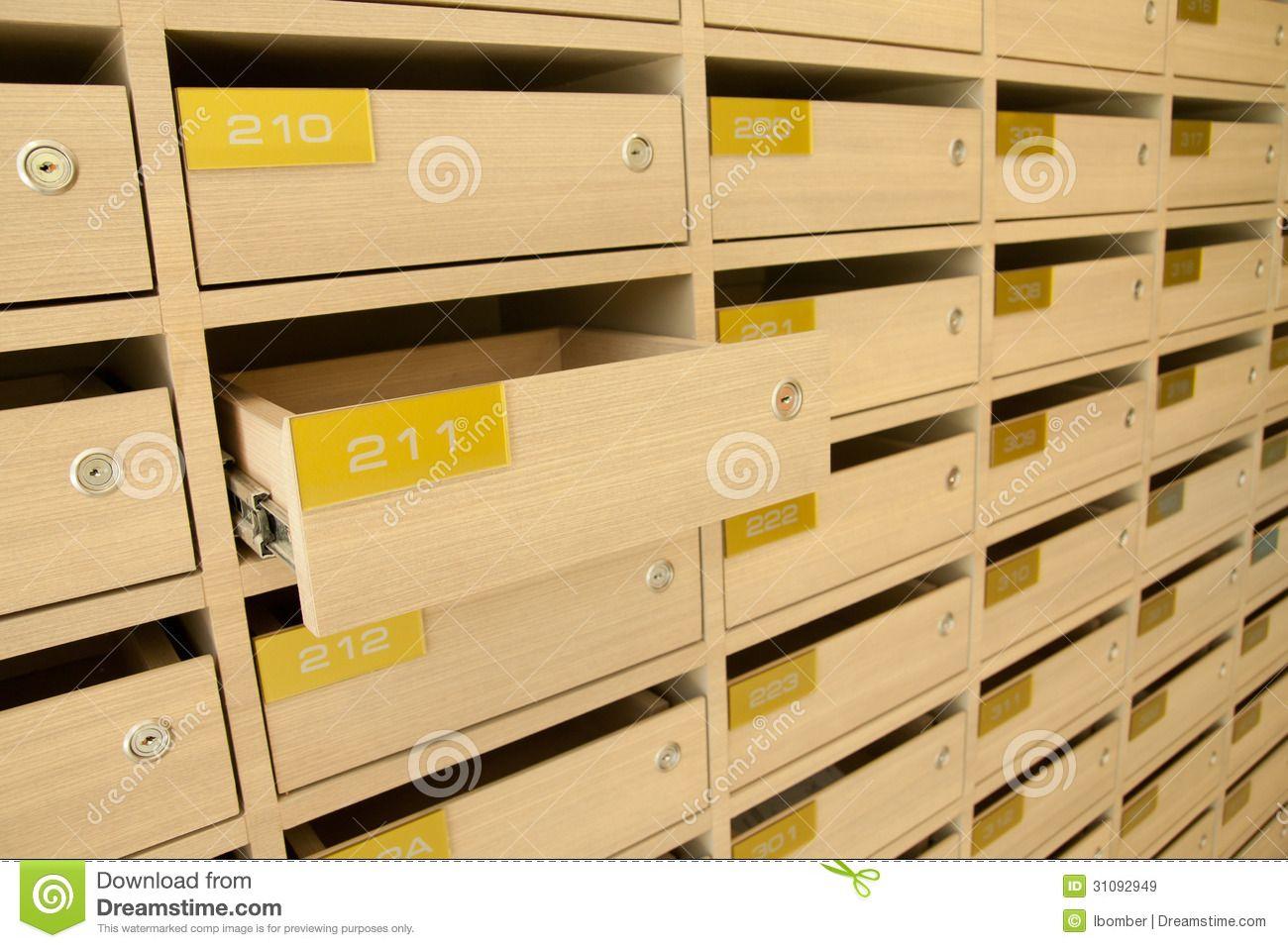 Modern Wooden Mailbox Apartment Panel Condominium Residential Place 31092949 Jpg 1300 957 Wooden Mailbox Mailbox Mail Room
