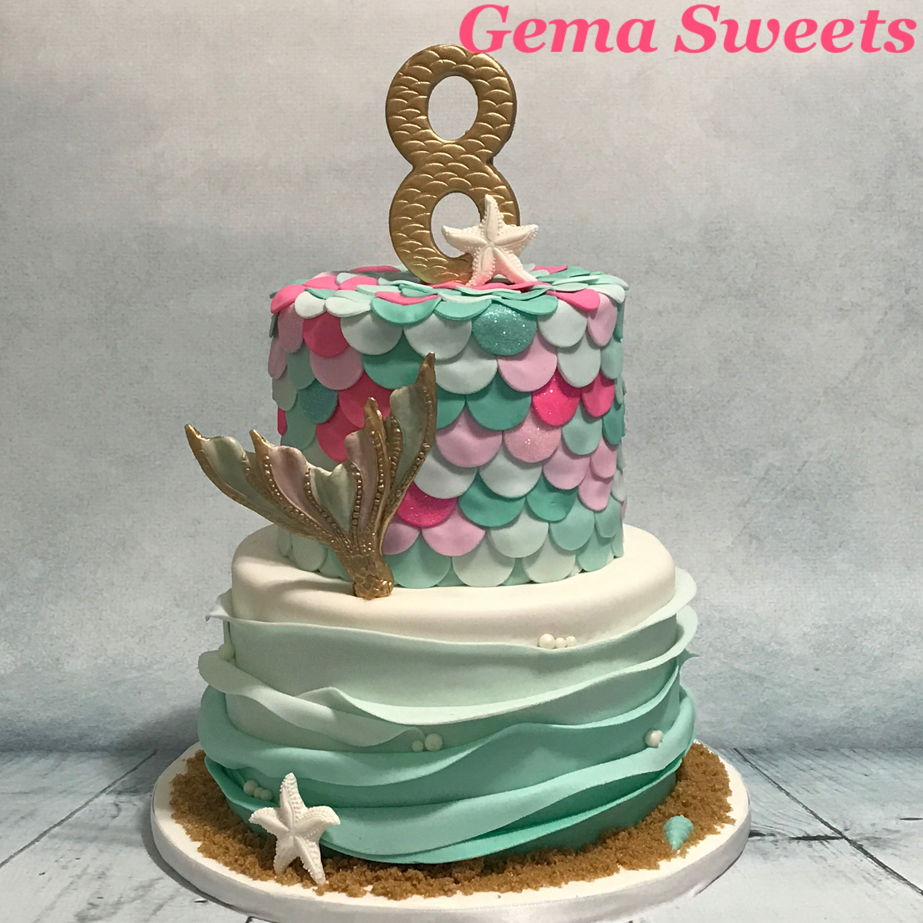 Mermaid Under The Sea Cake By Gema Sweets