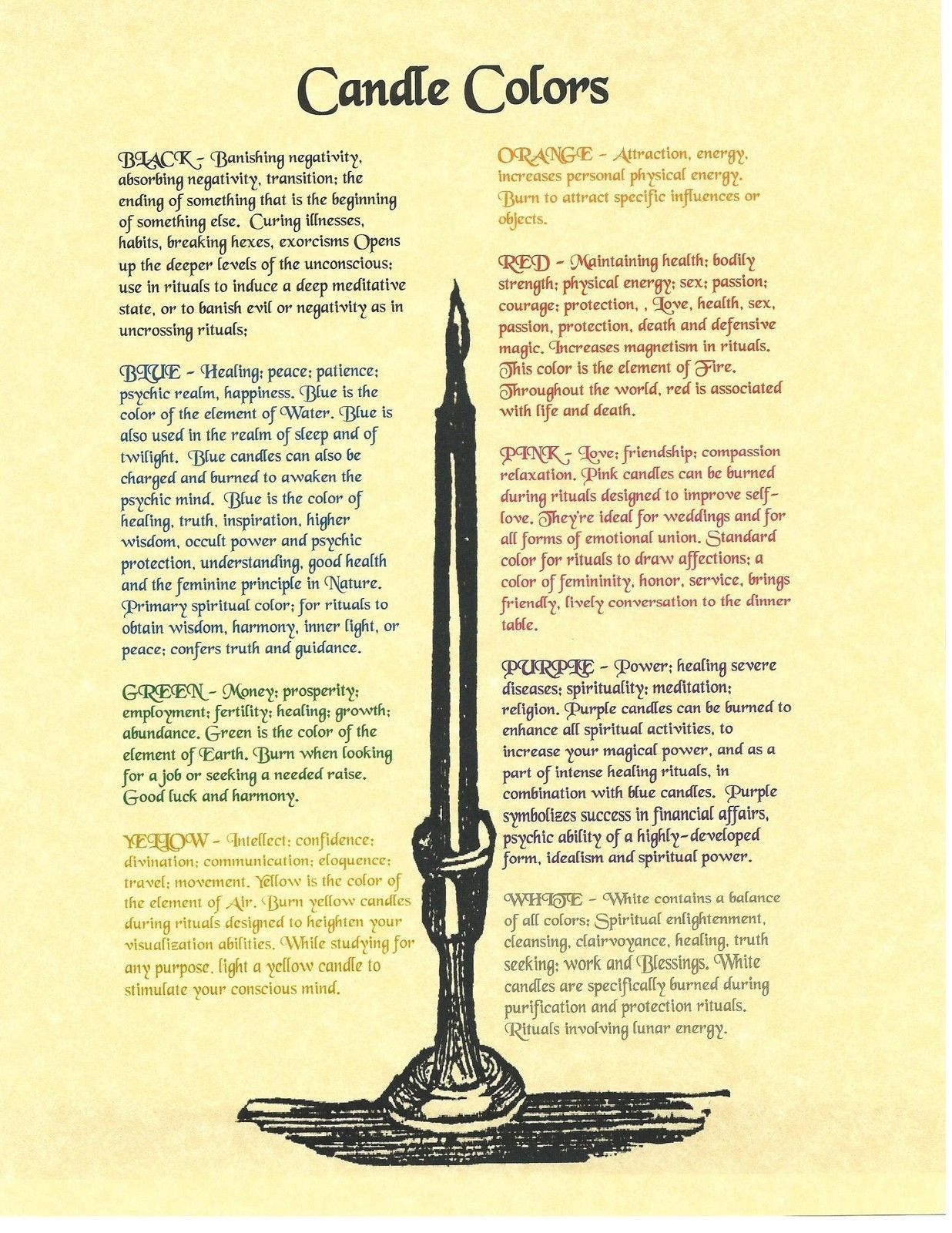 Book of Shadows Spell Pages Colors forg