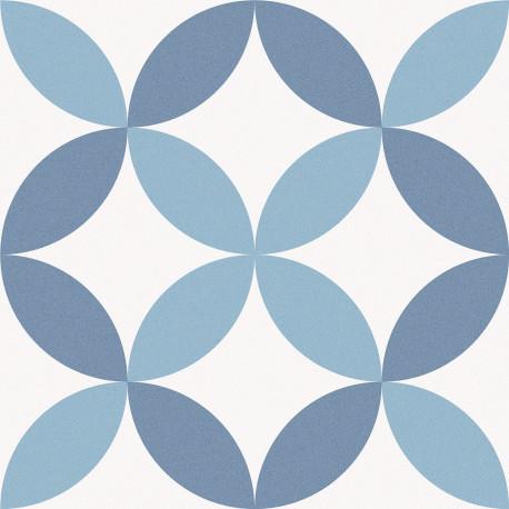 Carrelage Sol Et Mur Aspect Carreau Ciment Multicolore Bleu