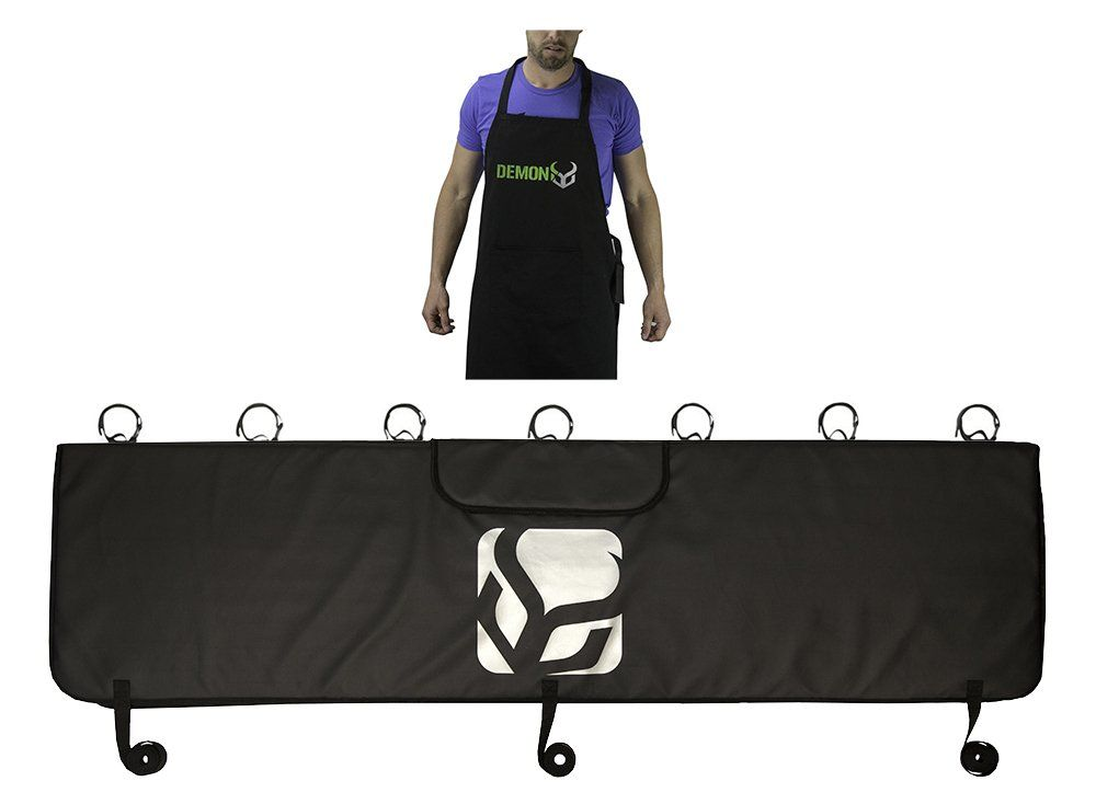 Demon Bicycle Tailgate Pad With Bike Mechanic Apron Combo Pack