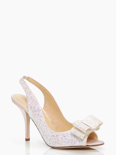 ac40e9b4eedd kate spade new york glitter charm heels - hello wedding shoes!!