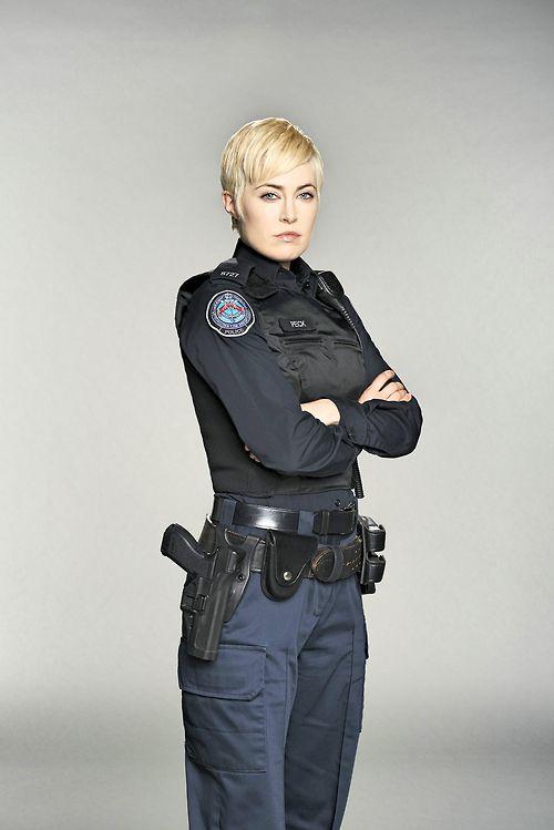 blonde lesbian police officer