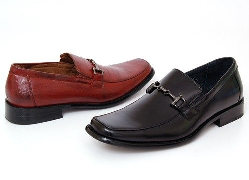 Details about Mens Dress Shoes Slip on Loafers Dressy Buckle