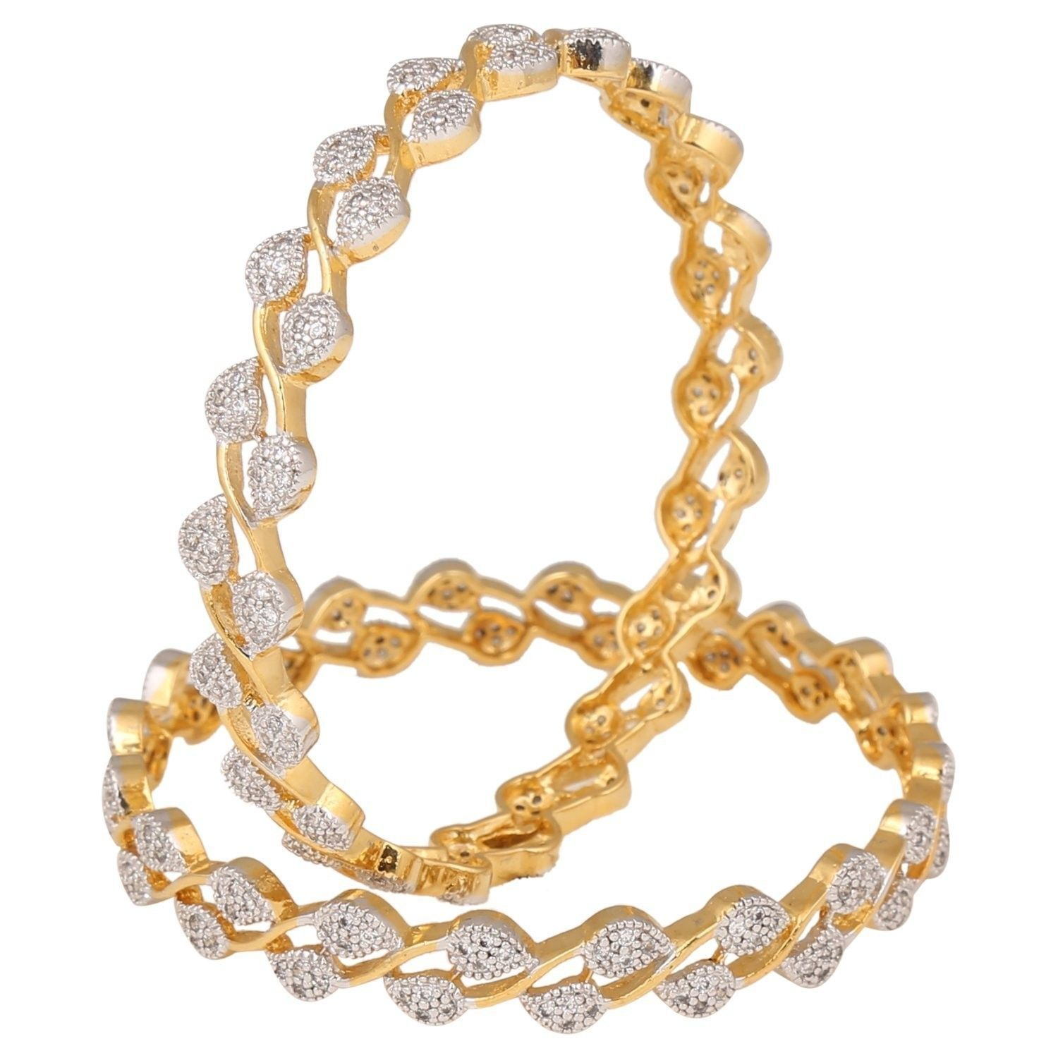 Fashion jewelry gold plated set of indian bangles kada for women