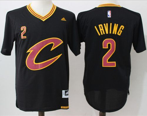 new york 76acc 902c8  Cavaliers  2  Kyrie  Irving Black Short Sleeve C  StitchedNBAJersey