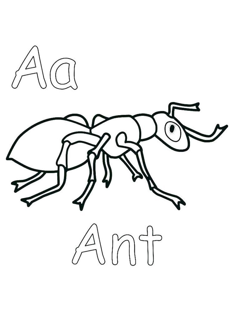 Free Coloring Pages Of Ant To Print Everyday We Must Have Met This One Small Animal Yes Ants Are Farm Coloring Pages Free Coloring Pages Lego Coloring Pages