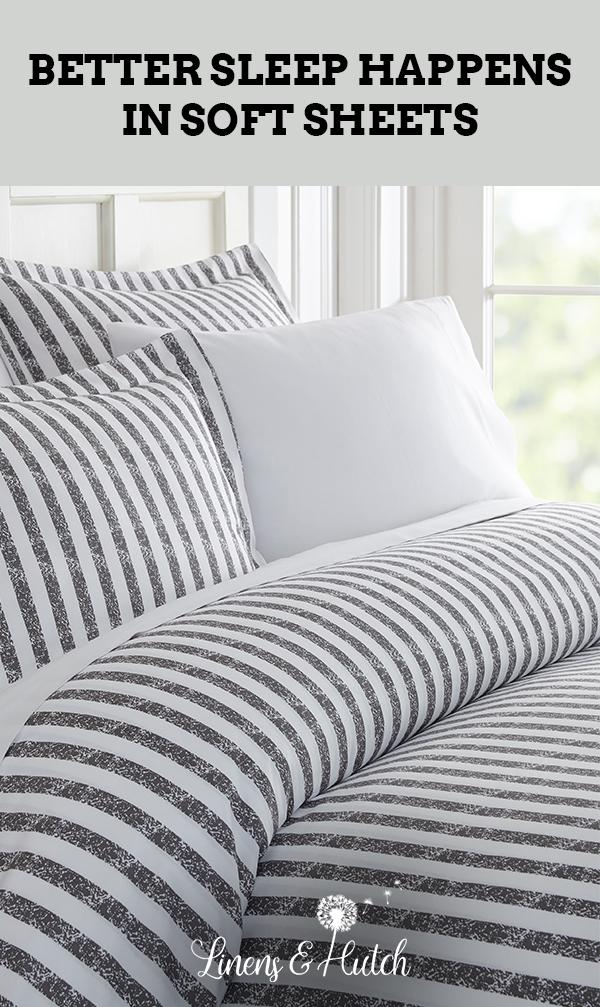 Rugged Stripes Patterned 3 Piece Duvet Cover Set Duvet Cover Sets Duvet Covers Luxury Duvet Covers