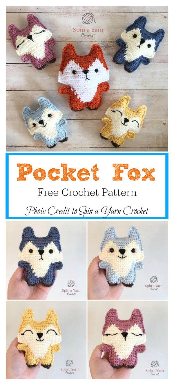 Pocket Fox Free Crochet Pattern | 만들기 | Pinterest | Llaveros ...