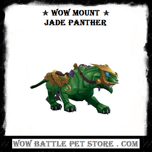 Jade Panther Wow Mount Wow Battle Panther Pet Store