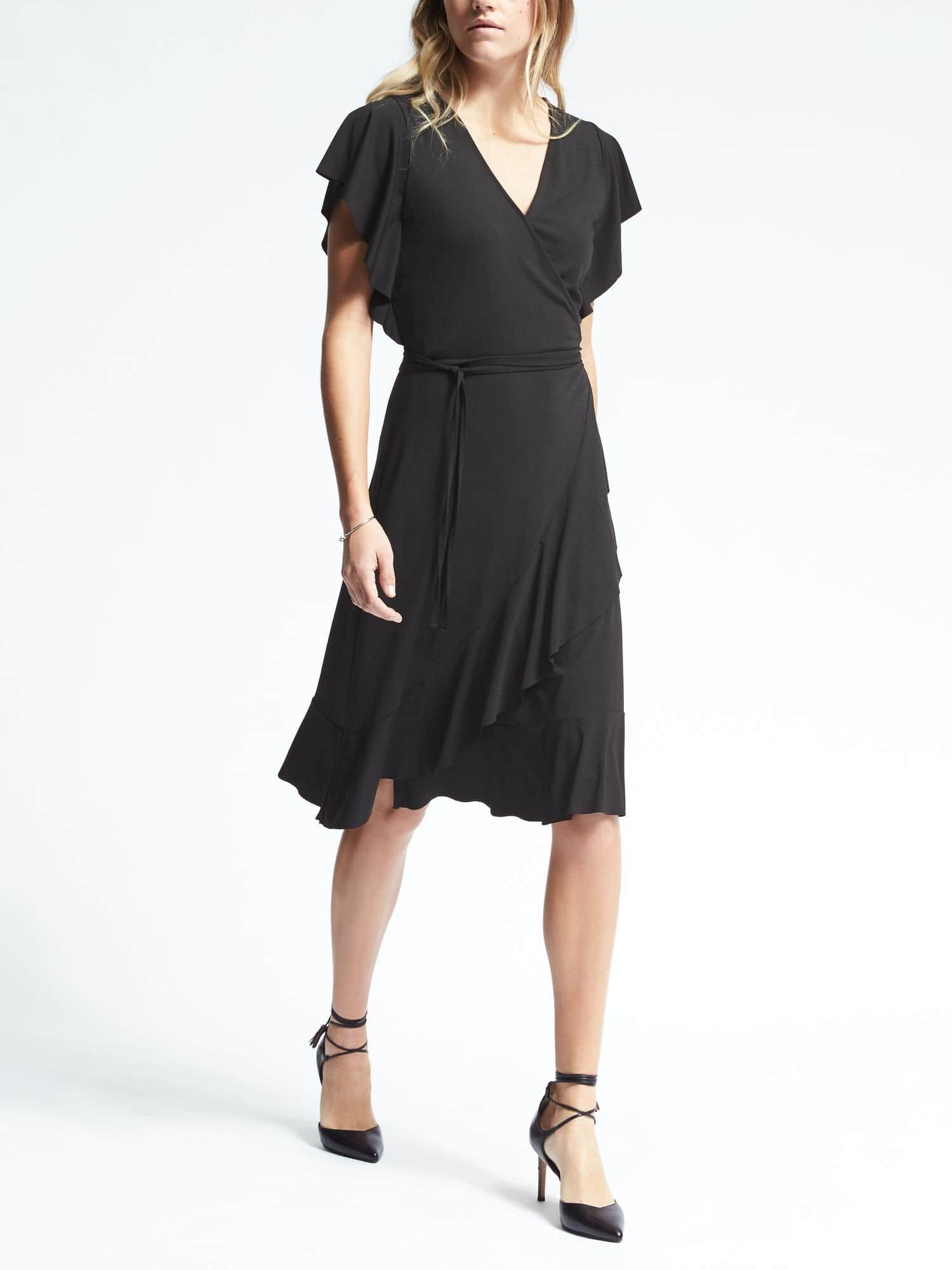 Flounce Wrap Dress Banana Republic Midi Dress With