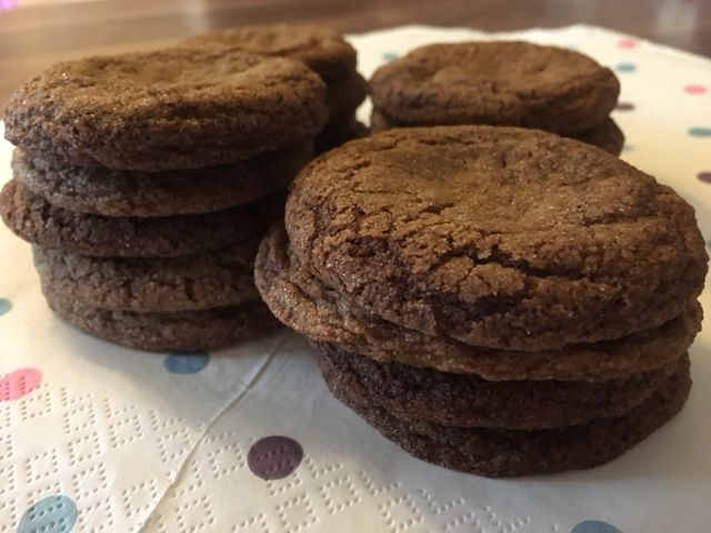 There's nothing better than having a soft and chewy gingersnap with a cup of tea or coffee!  They don't take long to make and are much better than shop–bought gingersnaps! http://wp.me/p77rMC-xV