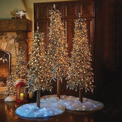 Artificial Christmas Trees 117414 Sale Lighted Pre Lit Flocked