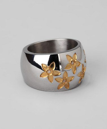 Take a look at this Silver Flower Ring by Steel Time on #zulily today!