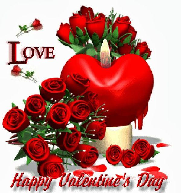 Corazones Y Rosas En El Dia De San Valentin Saludos De San