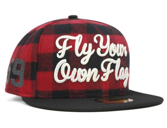 Plaid Fly Your Own Flag 59Fifty Fitted Cap by NEW ERA  8cb0916a44e