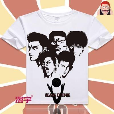 ae2c328dad3b Slam Dunk Short Sleeve Anime T-Shirt V18   T-Shirts   T shirt, Slam ...