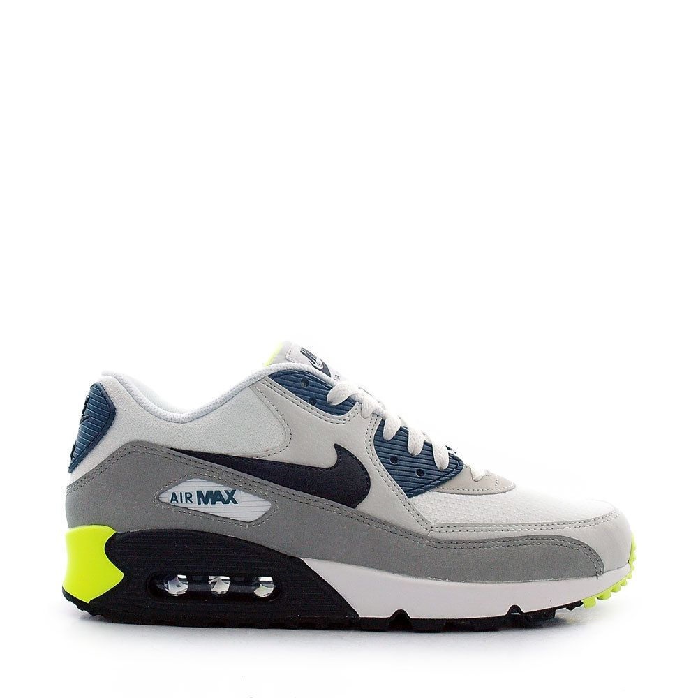 Nike Men's Air Max 90 Essential Shoes Size 14 White Black Grey 537384-105 #