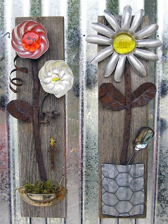 jello rustic floral wall art set of 2 home decor flower on wall art for home id=21514