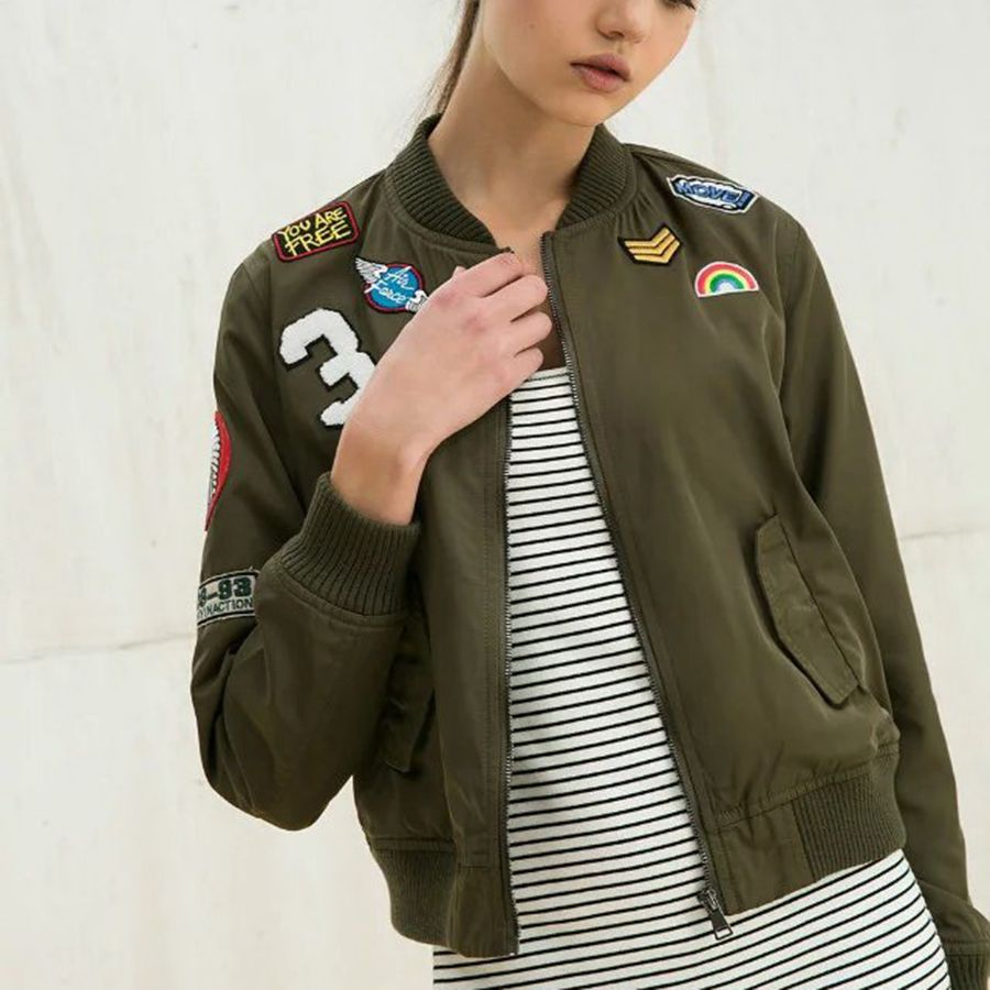 Fashion Army Green Women Bomber Jackets 2016 Female Coat Flight Suit Casual Print Jacket ...
