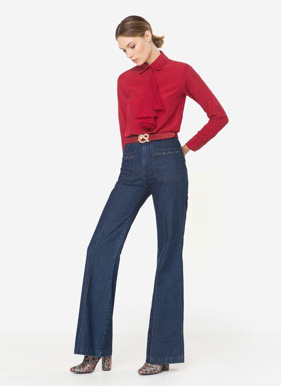 5c30adc603f Camisas y Blusas de Mujer - Uterqüe   Costura   Detalles de espalda ...