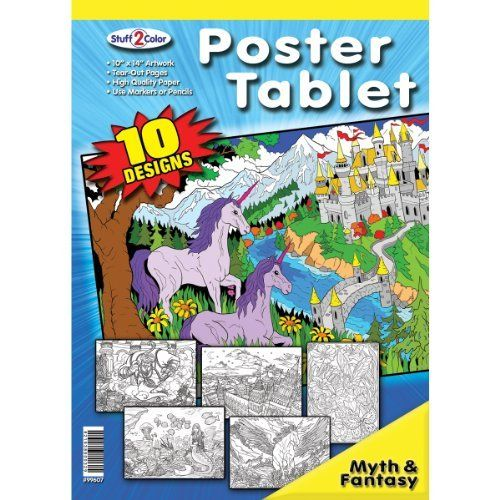 Myth And Fantasy Coloring Poster Tablet By Stuff 2 Color 8 47 821938900329 Lat 99607 Stuff 2 Color Bran Coloring Books Fantasy Posters Coloring Posters