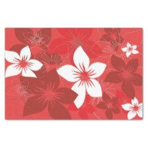 Tropical Flower Pattern Tissue Paper