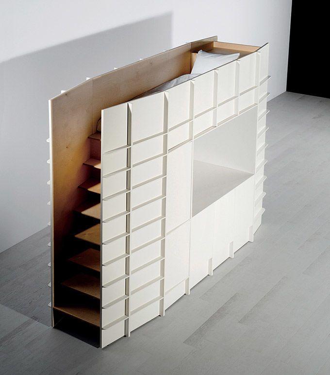Concept de mobilier tout en un pour petits espaces