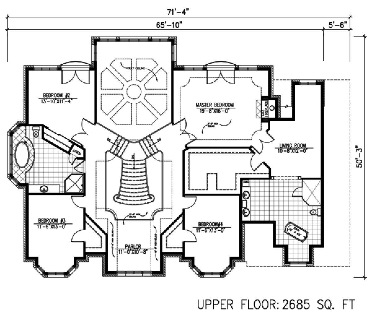 Palatial Estate With Grand Double Staircases 135 Vozeli Com | Double Staircase House Plans | Bedroom | First Floor | Residential | Blueprint | Modern