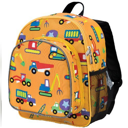 Preschool Day Pack Back to School Tranes Planes Wildkin Monogram Backpack and Lunch Bag