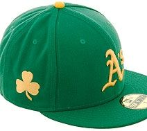 outlet store b4bf2 e3dd2 New Era 5950 Oakland Athletics Fitted Hat - Kelly Green ...