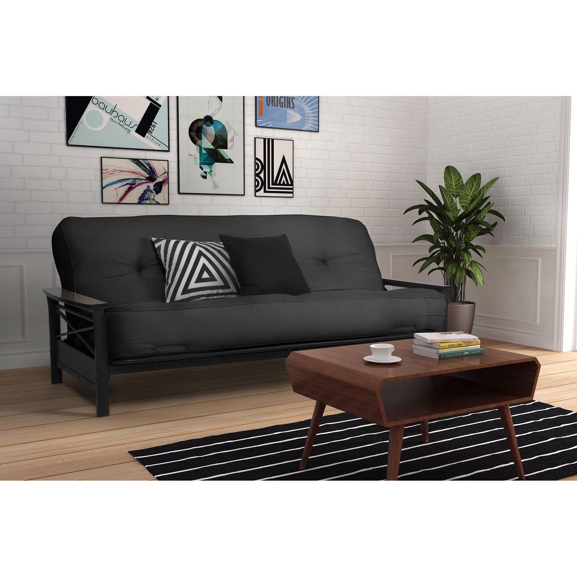 Convertible Small E Dorm Room Sleeper Sofa Futon With Innerspring Full Mattress
