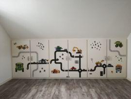 Klantfoto Autobaan Stickers Op Kast Deuren In Kinderkamer