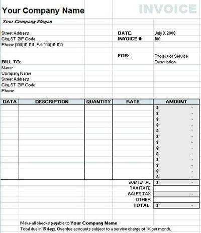 Invoice Spreadsheet Template Free Check more at   onlyagame