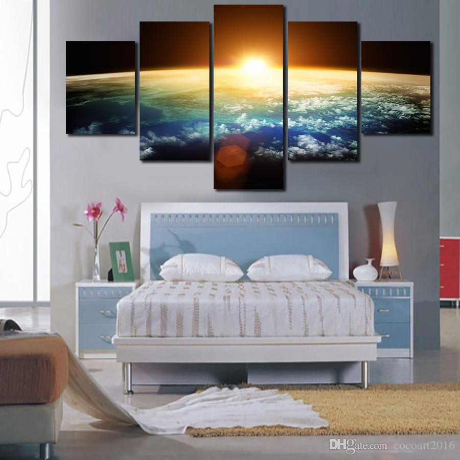 Best Hand Painted Hi Q Modern Wall Art Home Decorative Landscape Seascape  Ocean Oil Painting On