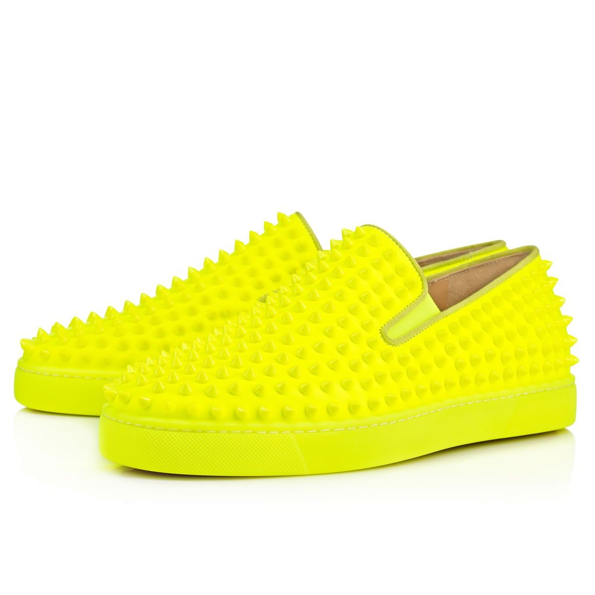 Roller pump shoes - Roller Boat Mens Flat Jaune Leather Women S Pumpsshoes