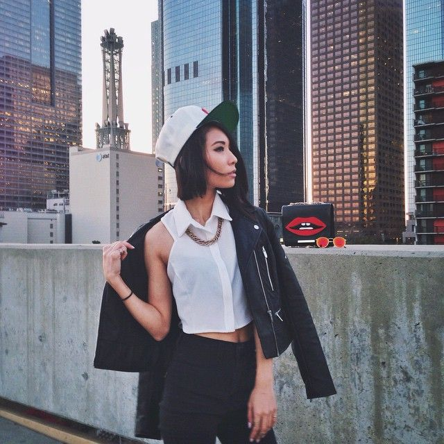 1310de98302 Eunice Kollection in Nasty Gal Cecilia Crepe Crop Top & On the Kisser Bag