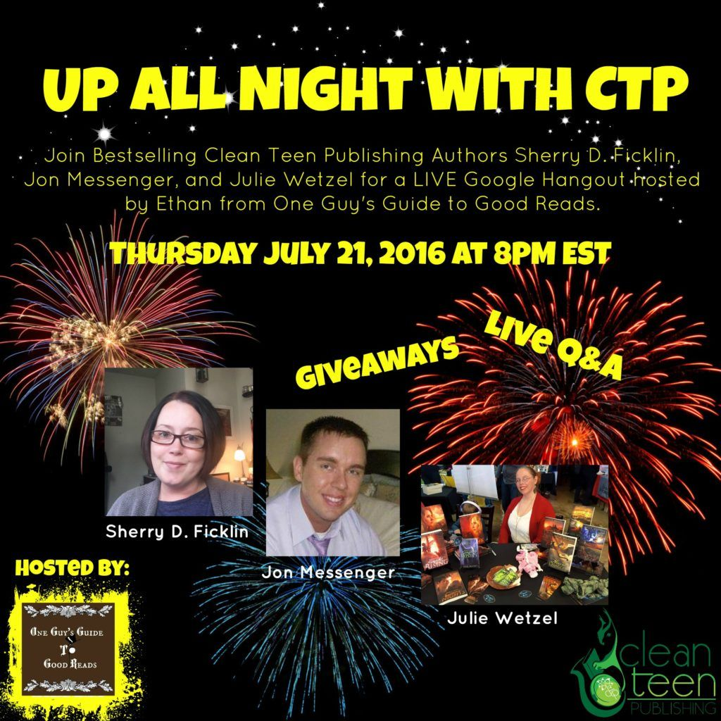 WATCH OUR FIRST CTP VIRTUAL AUTHOR PANEL: Get ready for a night to remember with UP ALL NIGHT WITH CTP! Join Bestselling Clean Teen Publishing and Crimson Tree Publishing Authors Sherry D. Ficklin,…