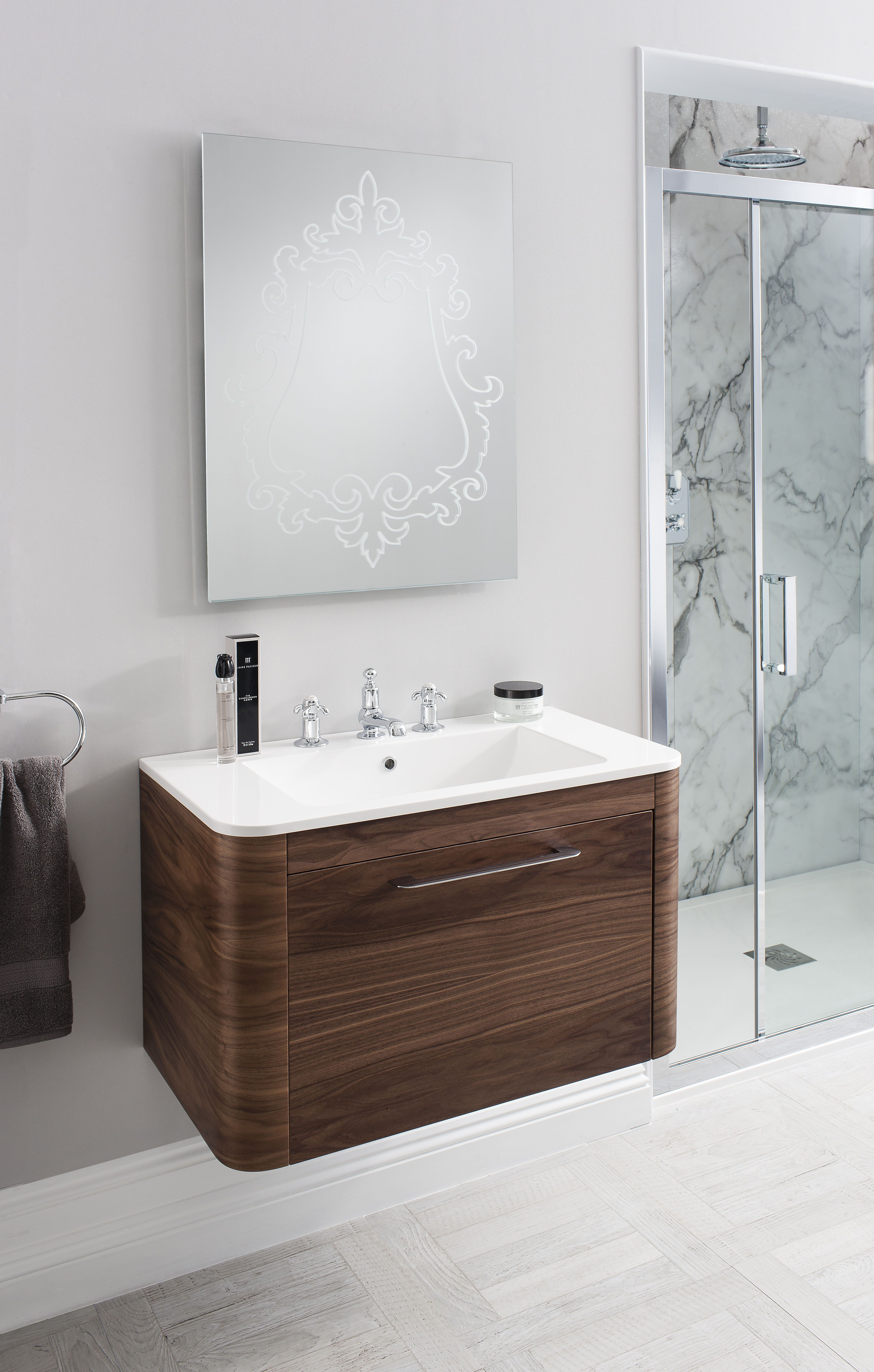 Celeste American Walnut Bathroom Furniture Unit & Basin from ...