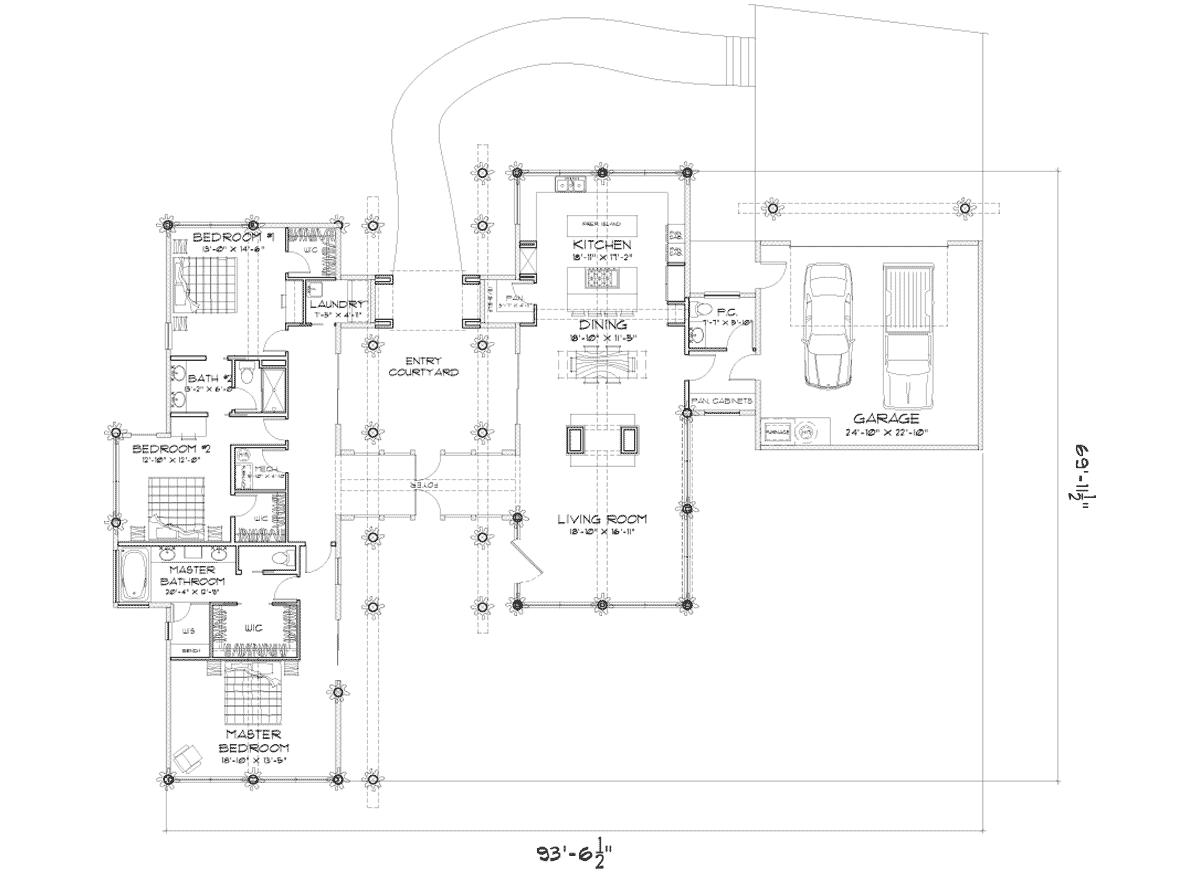 Rainier Main Floor Plan 2 713 Liveable 624 Garage Precisioncraft Com Floor Plans Rainier Html Floor Plans Post And Beam Cottage Floor Plans