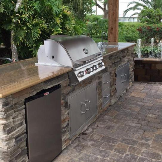 Bull Angus 30 Inch 4 Burner Built In Natural Gas Grill With Rotisserie 47629 Outdoor Grill Station Build Outdoor Kitchen Outdoor Kitchen