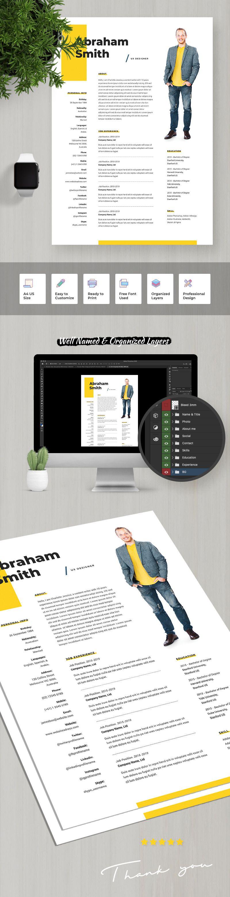 Abraham smith ux designer resume template 107916 in