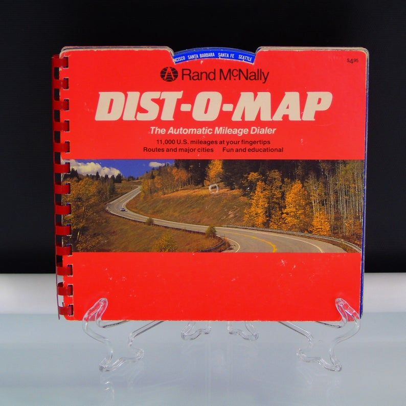 Rand McNally DistOMap Book US Atlas Automatic Route