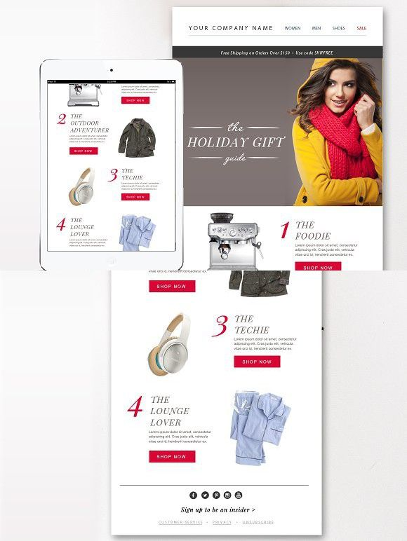 Ecommerce Email Template Psd Email Templates Email