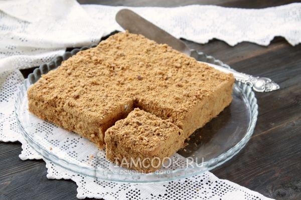 Рецепт торта из хлеба и сметаны