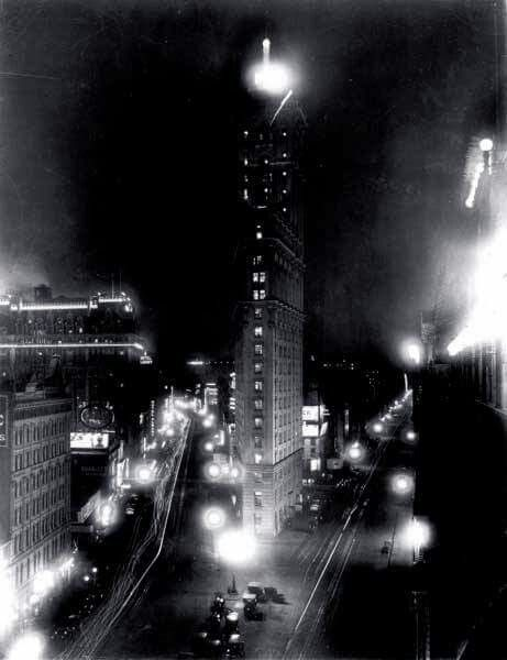 Rehearsal for 1st Times Square Ball Drop 1907
