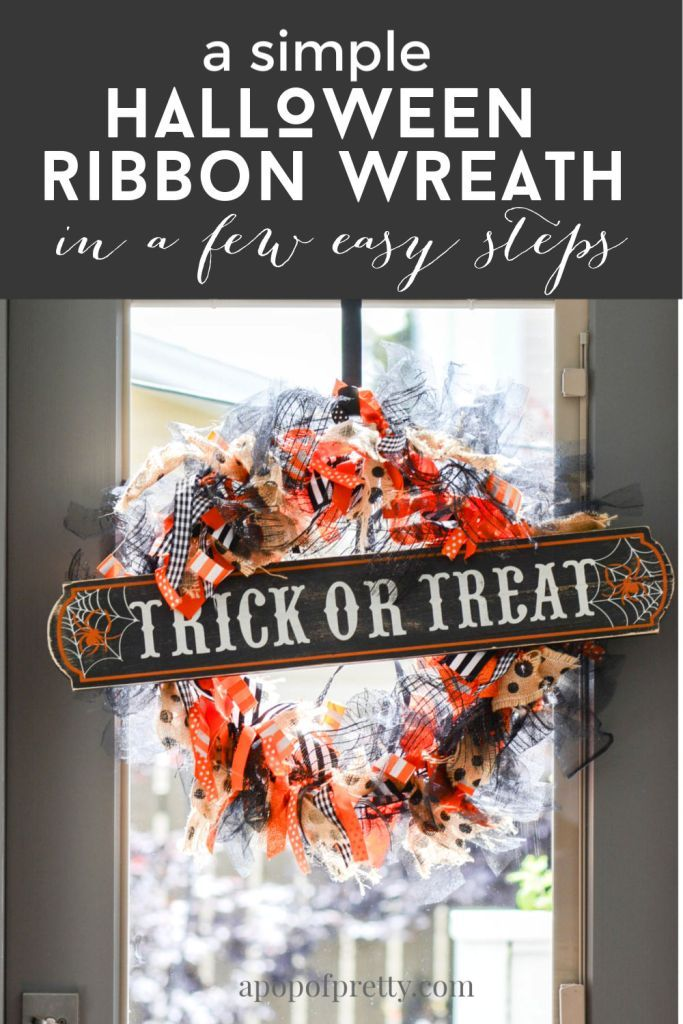 Photo of DIY Ribbon Wreath (Halloween or any Season) – A Pop of Pretty Canadian Home Decor Blog