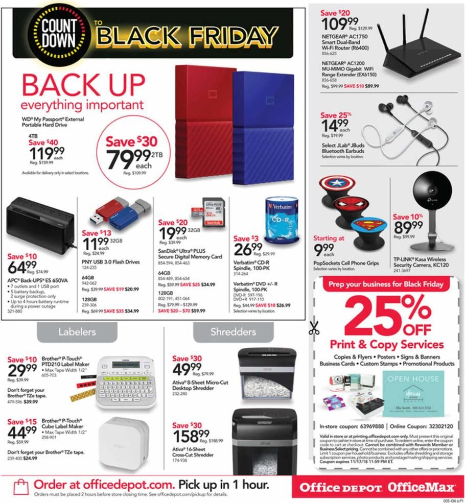 Office Depot And Officemax Countdown To Black Friday 2018 Ads Scan Deals And Sales See The Office Depot And Officemax Cou Office Depot Black Friday Office Max